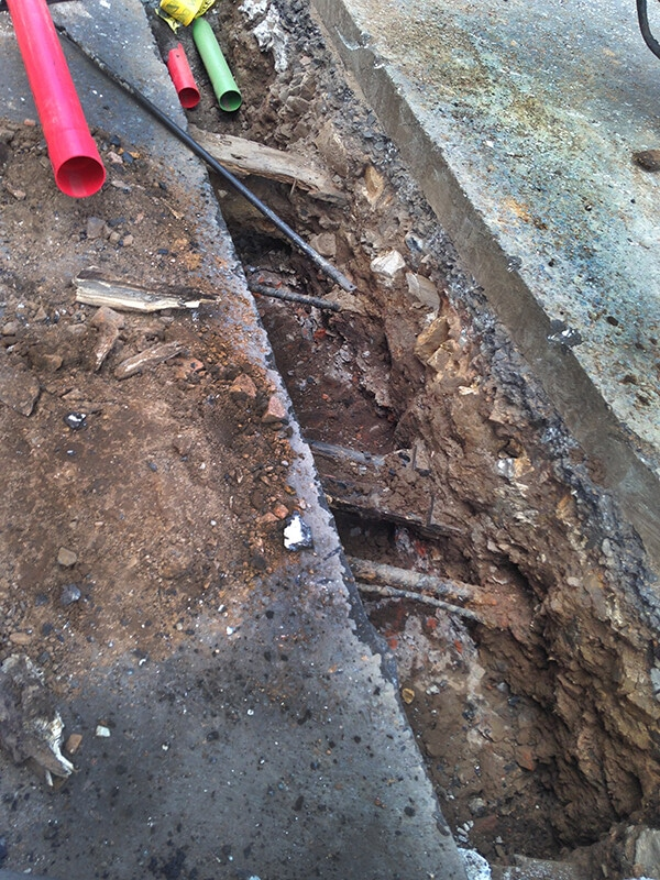 Vacuum Excavation Is Used To Expose Underground Services