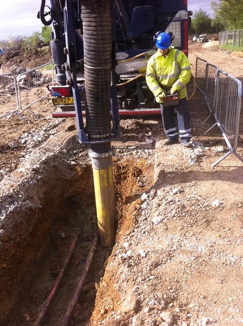Vacuum Excavation in action in London