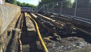 Utilities Excavation For Bridge Reinforcement