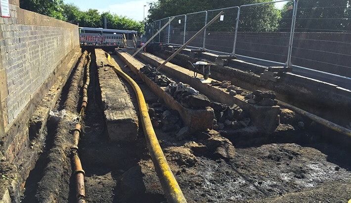 Vacuum Excavation Project: Utilities Excavation For Bridge Reinforcement