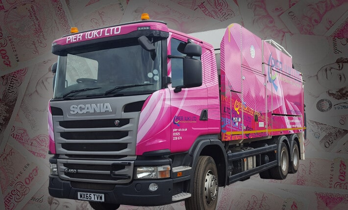 charity pink truck