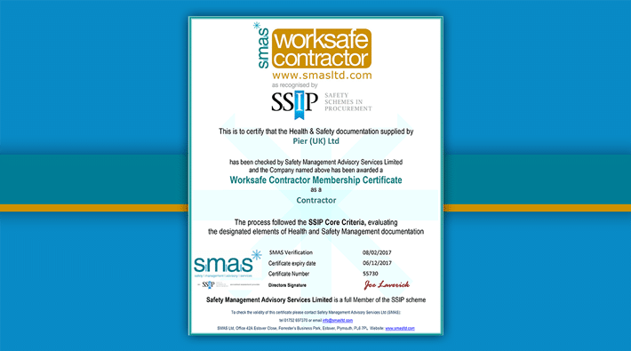 PIER (UK) Are A Worksafe Contractor