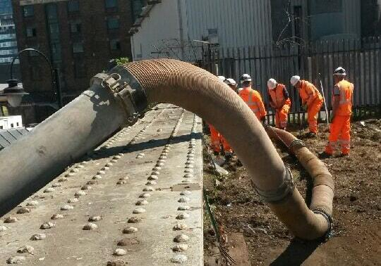 extension pipework assists vacuum excavator with ballast removal