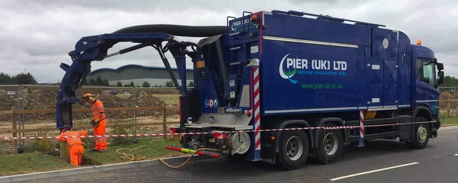 Pier UK Vacuum Excavation Truck