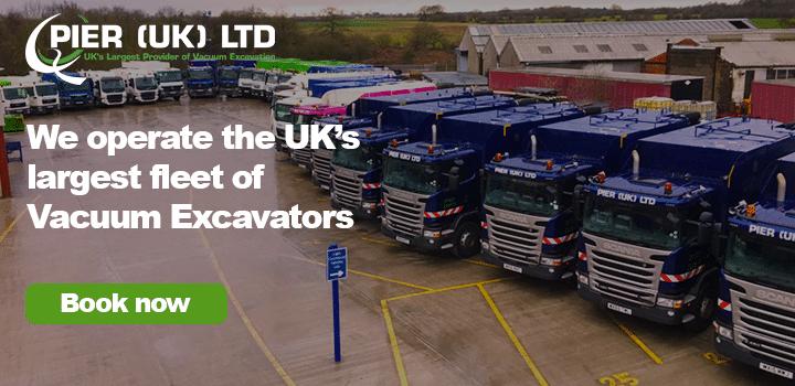 Pier (UK) have the largest fleet of Vacuum Excavators. Book Now